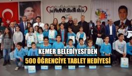 Kemer Belediyesi'den 500 öğrenciye tablet hediyesi