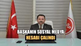 Başkanın sosyal medya hesabı çalındı