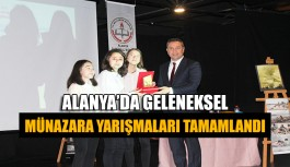 Alanya'da geleneksel münazara yarışmaları tamamlandı