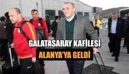 Galatasaray kafilesi Alanya'ya geldi