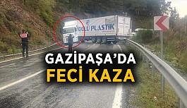 Gazipaşa'da feci kaza