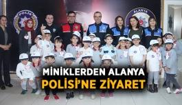 Miniklerden Alanya Polisi'ne ziyaret