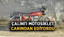 Çalıntı motosiklet canından ediyordu