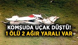 Komşuda uçak düştü! 1 ölü 2 ağır yaralı var