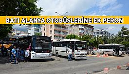Batı Alanya otobüslerine ek peron