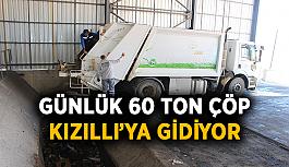Günlük 60 ton çöp Kızıllı'ya geliyor