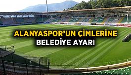 Alanyaspor'un çimlerine belediye ayarı