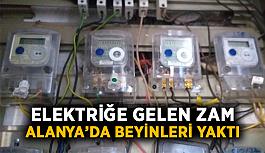 Elektriğe gelen zam Alanya'da beyinleri yaktı