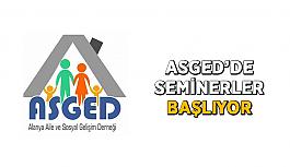 ASGED'de seminerler başlıyor