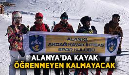 Alanya'da kayak öğrenmeyen kalmayacak