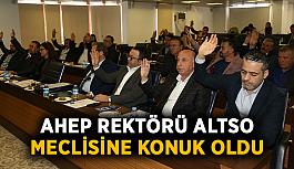 AHEP rektörü ALTSO meclisine konuk oldu