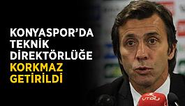 Konyaspor'da teknik direktörlüğe Korkmaz getirildi