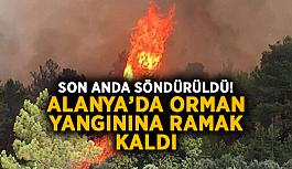 Son anda söndürüldü! Alanya'da orman yangınına ramak kaldı