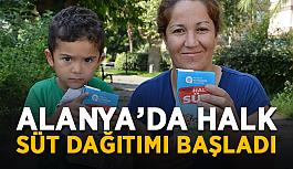 Çok istemiştik! Alanya'da Halk Süt dağıtımı başladı