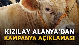 Kızılay Alanya'dan kampanya açıklaması