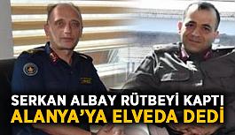 Serkan Albay rütbeyi kaptı, Alanya'ya elveda dedi
