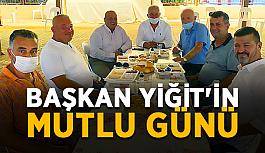 Başkan Yiğit'in mutlu günü