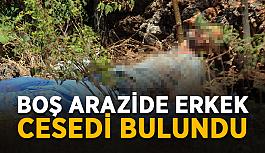 Boş arazide erkek cesedi bulundu