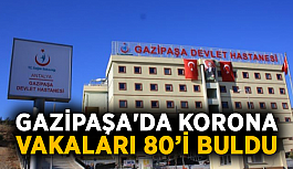 Gazipaşa'da korona vakaları 80'i buldu