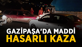 Gazipaşa'da maddi hasarlı kaza