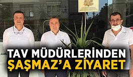Tav müdürleri Fahri Konsolos Saşmaz'ı ziyaret etti