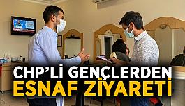 Alanya'da CHP'li gençlerden esnaf ziyareti
