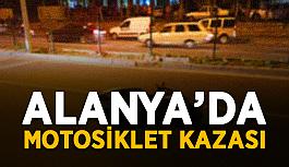 Alanya'da motosiklet sürücüsü ağır yaralandı