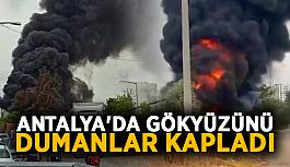 Antalya'da gökyüzünü dumanlar kapladı