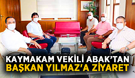Kaymakam vekili Abak'tan başkan Yılmaz'a ziyaret