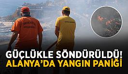 SON DAKİKA! Alanya'da yangın paniği