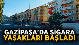 Gazipaşa'da sigara yasakları başladı
