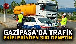 Gazipaşa'da trafik ekiplerinden sıkı denetim