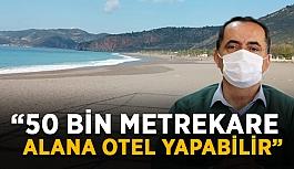 """Başkan Yılmaz: """"50 bin metrekare alana otel yapabilir"""""""