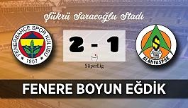 Alanyaspor Fenerbahçe'ye boyun eğdi