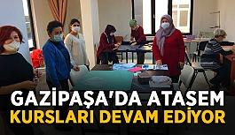 Gazipaşa'da Atasem kursları devam ediyor
