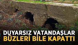 Gazipaşa'da duyarsız vatandaşlar büzleri bile kapattı