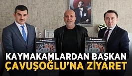 Kaymakamlardan Başkan Çavuşoğlu'na ziyaret