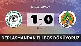 Alanyaspor, Konyaspor deplasmanından eli boş dönüyor