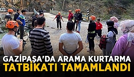 Gazipaşa'da arama kurtarma tatbikatı tamamlandı