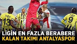 Ligin en fazla berabere kalan takımı Antalyaspor