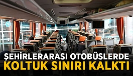 Şehirlerarası otobüslerde koltuk sınırı kalktı