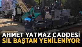 Ahmet Yatmaz Caddesi sil baştan yenileniyor