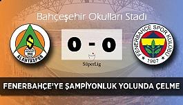 Alanyaspor'un Fenerbahçe karşında şansı gülmedi