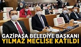 Gazipaşa Belediye başkanı Yılmaz meclise katıldı