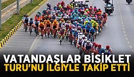 Vatandaşlar Bisiklet Turu'nu ilgiyle...