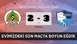 Alanyaspor Oba stadındaki son tango'da Erzurumspor'a yenildi