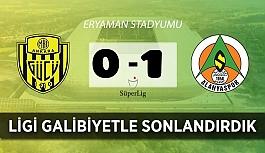 Alanyaspor son maçını 3 puanla kapattı