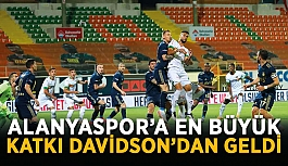 Alanyaspor'a en büyük katkı Davidson'dan geldi