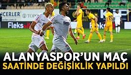 Alanyaspor'un maç saatinde değişiklik yapıldı