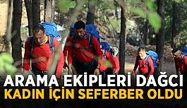 Arama ekipleri dağcı kadın için seferber oldu